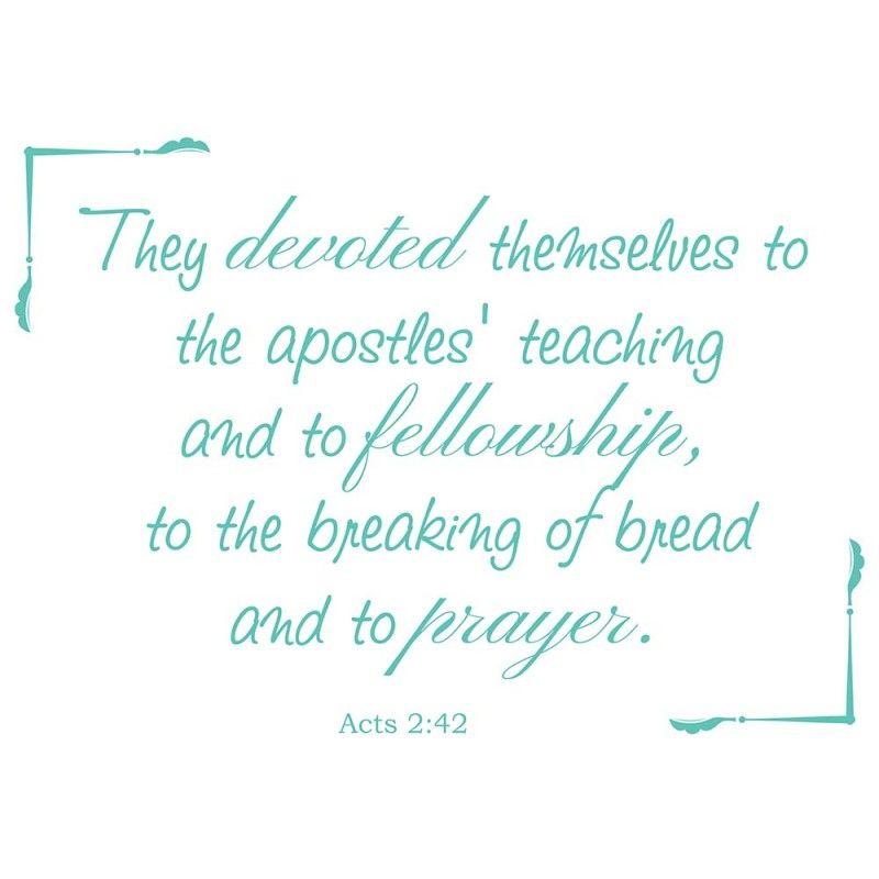Acts 2:42 scripture vinyl wall art | church | Pinterest | Scriptures