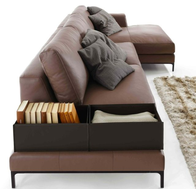 ecksofa im wohnzimmer bequeme sitzecke, corner sofa in the living room - comfortable seating area to relax, Möbel ideen