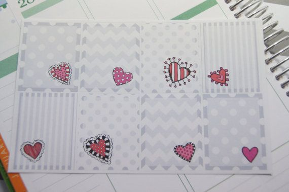 Valentine Stickers Full Box Planner Stickers by PinkiesPalace