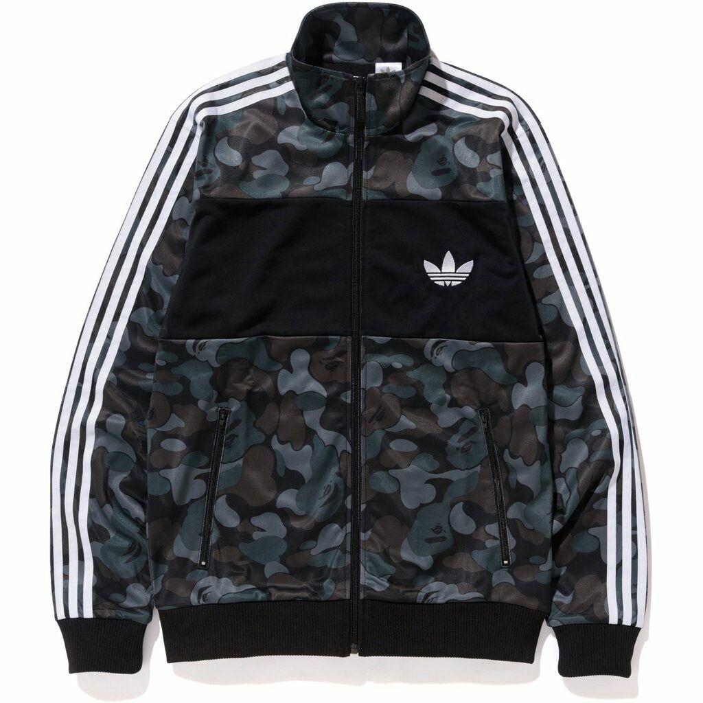 0f30972c054d2 BAPE X Adidas Originals Firebird Jacket Black Camo | Shoes and ...