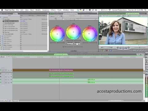 How to COLOR CORRECT in FINAL CUT PRO 7 - QUICK TIP! - Tutorial