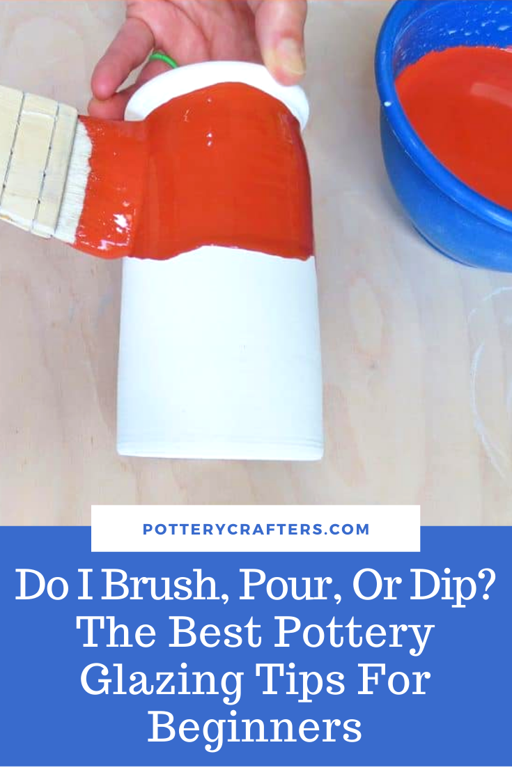 Do I Brush, Paint or Dip? How To Glaze Pottery For Beginners #potteryglazes