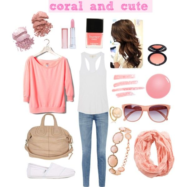 coral and cute, created by roxybabii324 on Polyvore