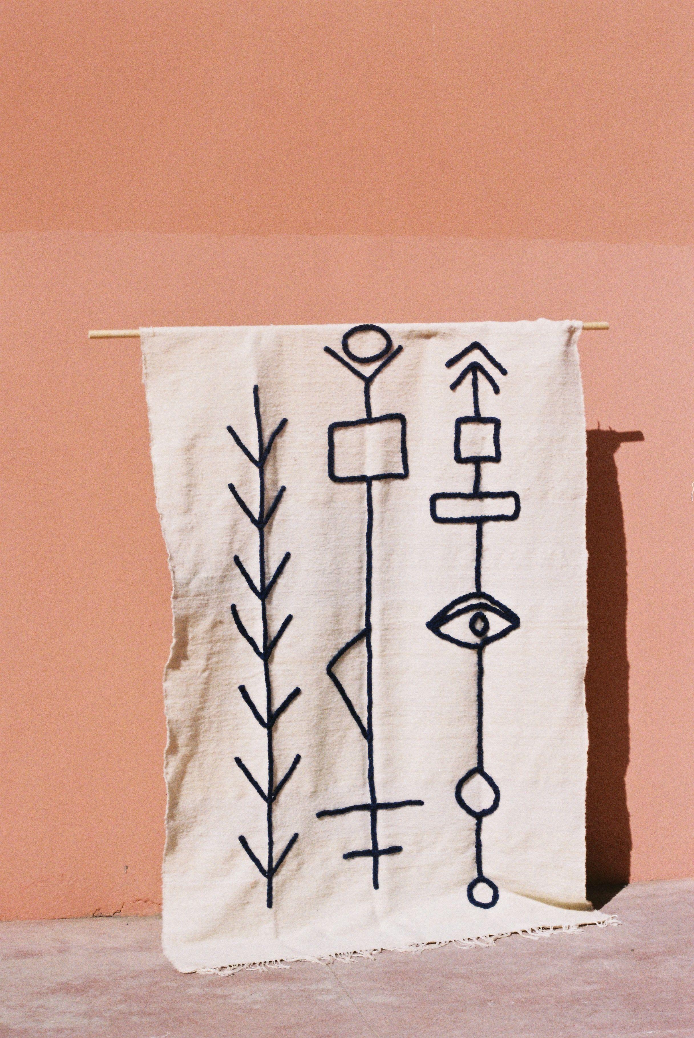 Sabbar Blanket Lrnce Www Lrnce Com Handmade In Marrakech Fabric Painting Textiles Textile Art