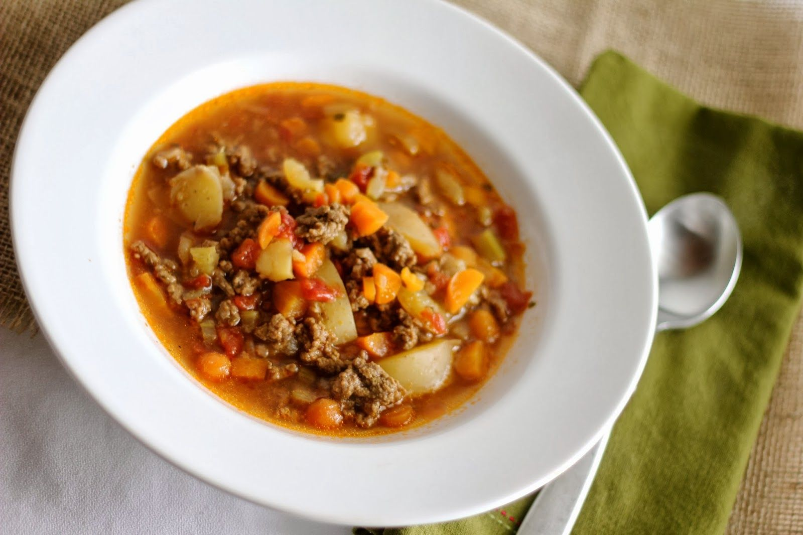 The Paper Heart Studio: Hamburger Soup {Foodie Friday}