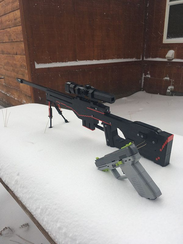 life size lego replica of the awp redline from cs go lego weapons