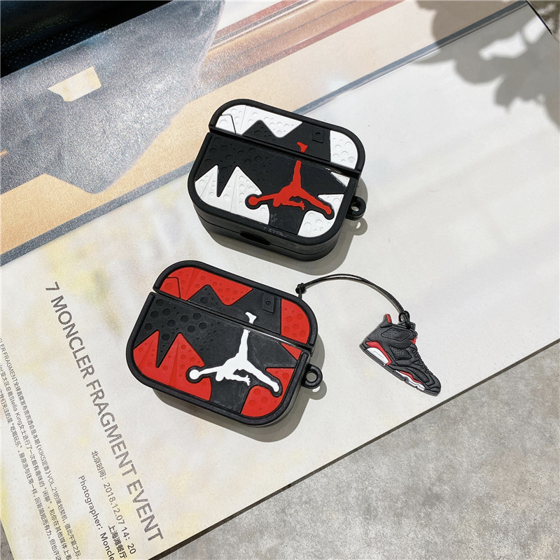 Personalized Keychain Portable Cool 3d Shoe Silicone Protective Cover Jordan Airpod Case For Apple Airpod Pr Personalized Keychain Airpod Case Protective Cases