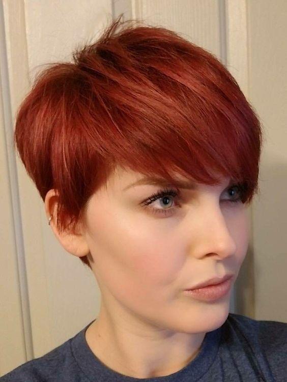 16 Short Red Hair Color Ideas For Women Kurze Rote Haare Haarfarben Frisuren Kurze Haare Rot