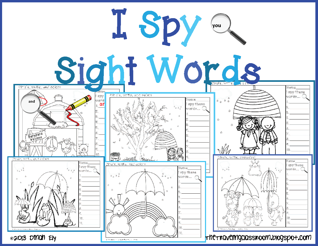 Coloring interactive games - Word Of The Day I Spy Interactive Powerpoint Matching Coloring Sheets
