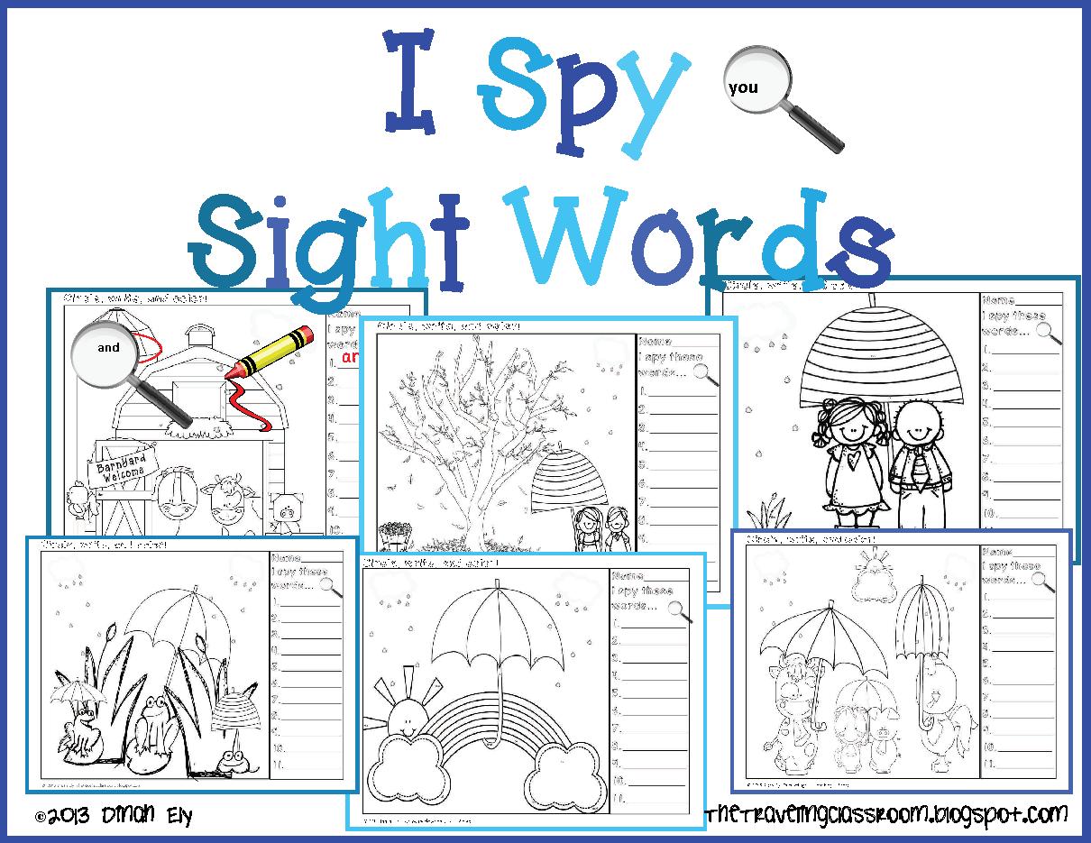 3 K 1st Grade I Spy Sight Words Includes 11 Sight Words