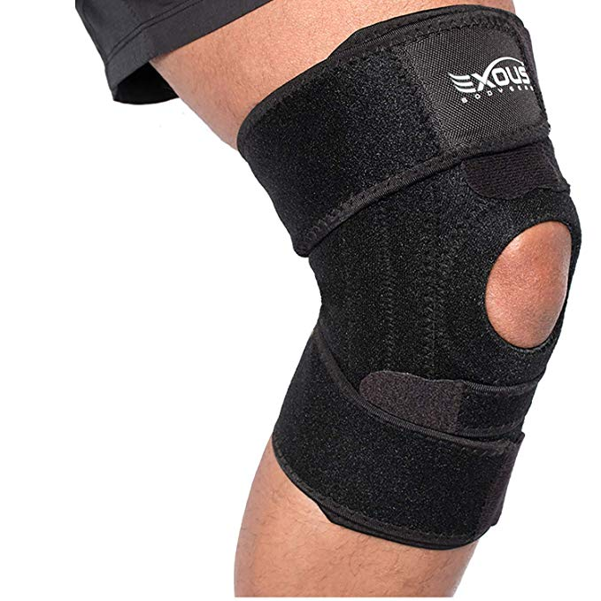 Amazon Com Exous Knee Brace Support Protector Relieves Patella Tendonitis Jumpers Knee Mensicus Tear Acl Knee Brace Basketball Knee Pads Acl Knee Brace