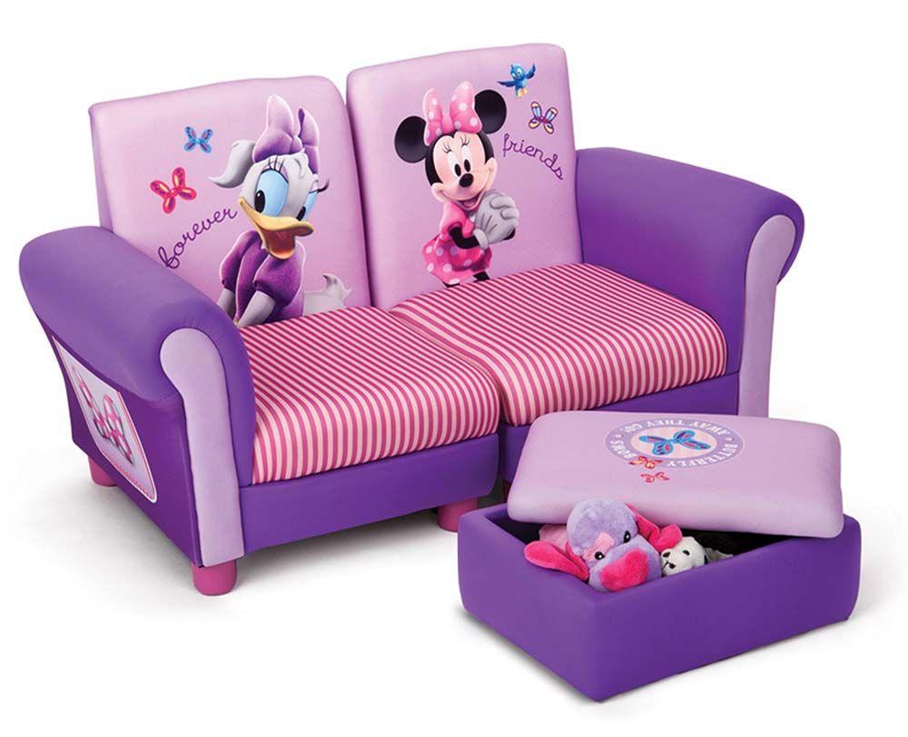 Sof infantil 3 piezas con minnie mouse disney complemento for Sofa para dormitorio