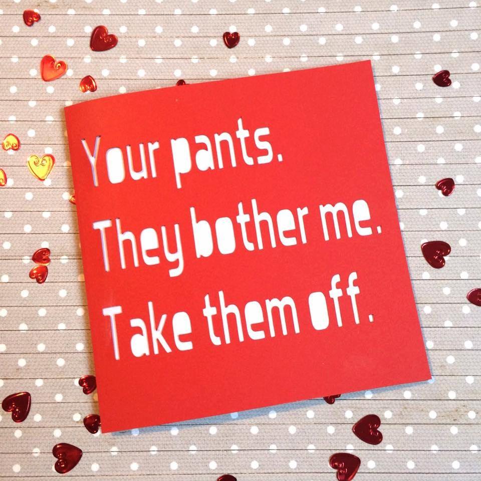 Valentines card Valentines Day card rude valentines card – Boyfriend Valentines Day Cards
