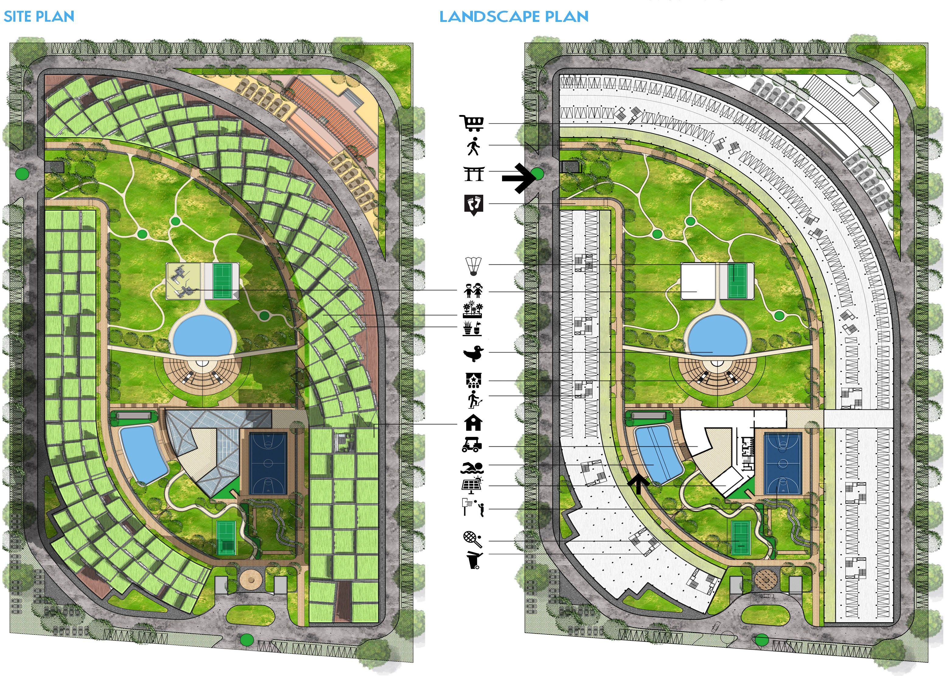 Site Plan Landscape Plan Green And Sustainable Housing For Lotus Green Griha Summit 2015 Landscape Plan Interior Design Boards Site Plan