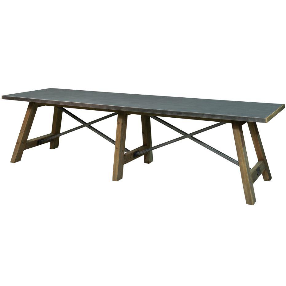 Astounding Tin Top Industrial Rectangular Dining Table Loft Ideas Ibusinesslaw Wood Chair Design Ideas Ibusinesslaworg