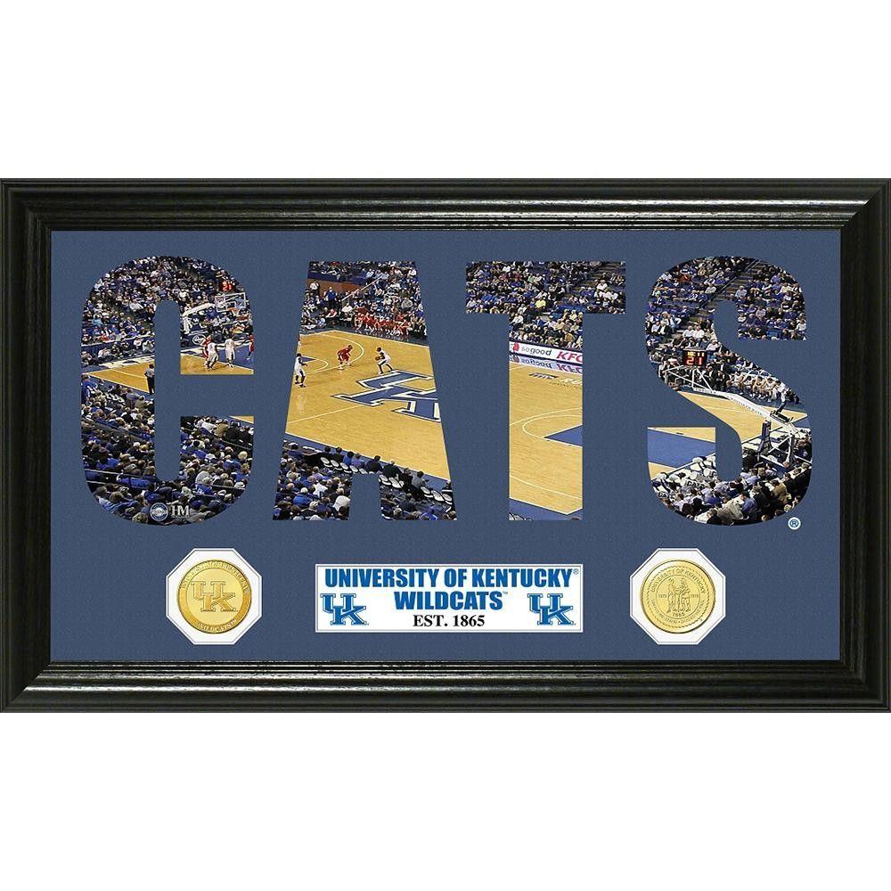 University of Kentucky Basketball inWord Artin Bronze Coin Panoramic Photo Mint