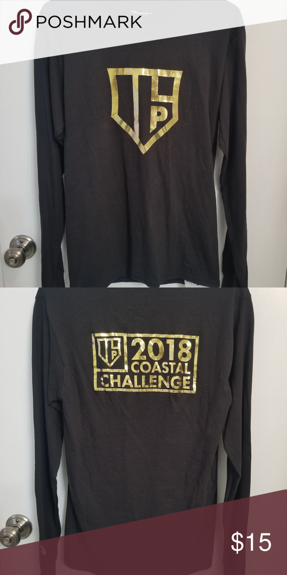 a2f7312e0102 Champion 2018 Coastal Challenge long sleeved shirt Never worn Black  Champion shirt with gold print Size small Bundle 3 items and save 10%!  Sorry, ...
