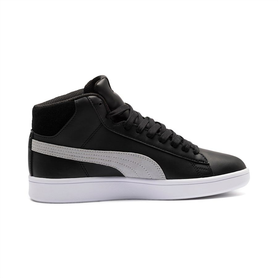 Photo of PUMA Smash V2 Mid PureTEX Kids' High Tops Sneakers in Quarry Grey size 5.5