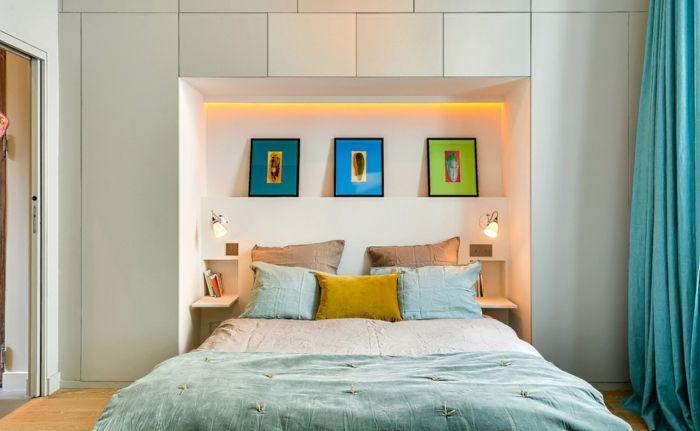 Fesselnd Kreative Wandgestaltung Ideen Im Schlafzimmer