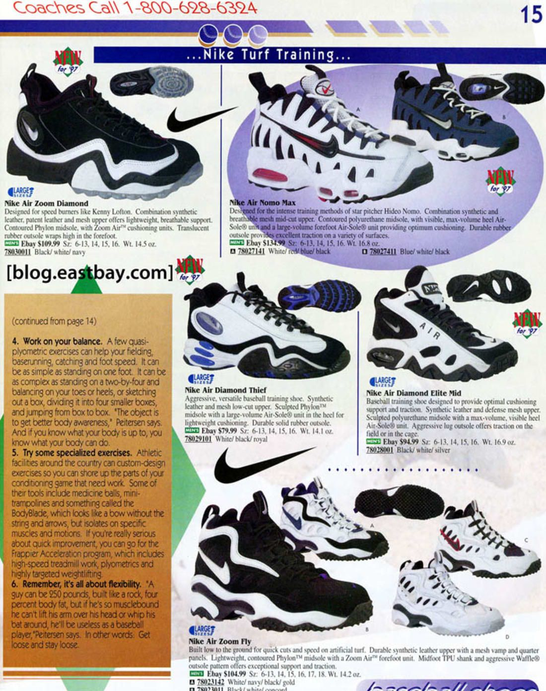 0a7d8db1ee64 Nike Zoom Flight Glove - 25 Classic Sneakers From Vintage Eastbay Catalogs