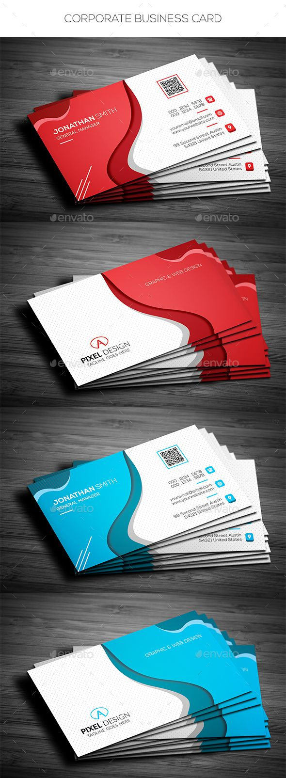 Corporate business card cartes de visita visita e carto corporate business card corporate business cards download here httpsgraphicriver reheart Choice Image