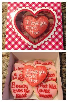 cute for a boyfriend or husband or close friend on valentines day