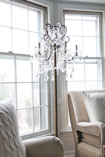 Chandelier floor lamp - Our Living Room Chandelier Floor Lamp, Floor Lamp And Chandeliers