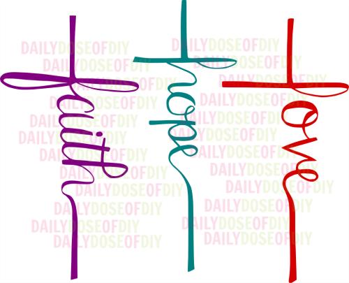 Download Free SVG File Faith Hope Love Cross | Faith hope love ...