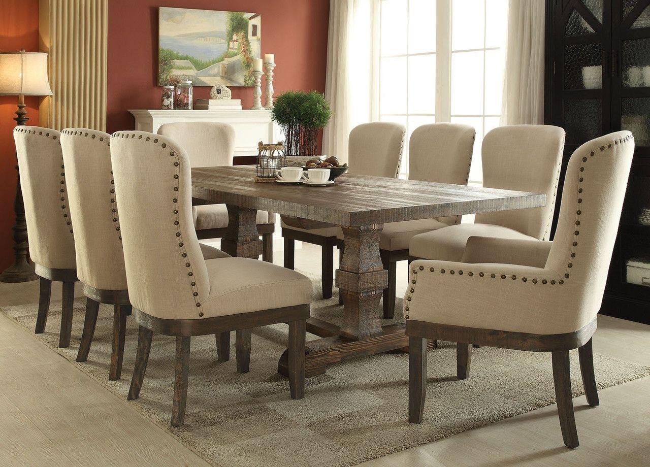 Landon 9 Pcs Dining Table & Chair Set