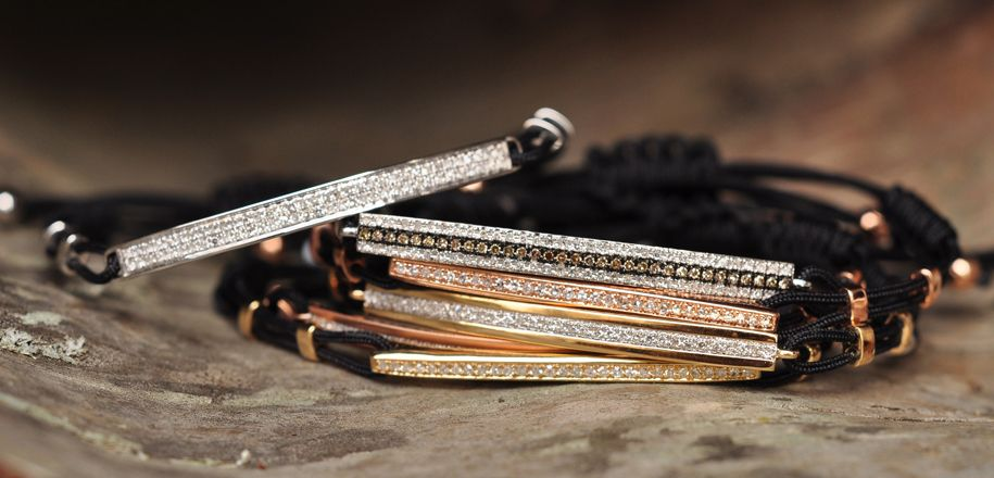 #Majolie 14kt bracelets on black cord for #Mother's Day available at #LibertyDiamonds