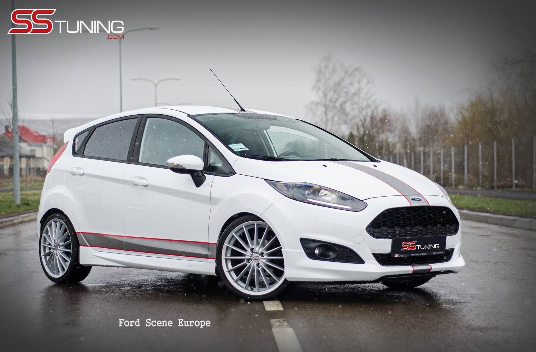 ford fiesta ss tuning white red and black all ford. Black Bedroom Furniture Sets. Home Design Ideas