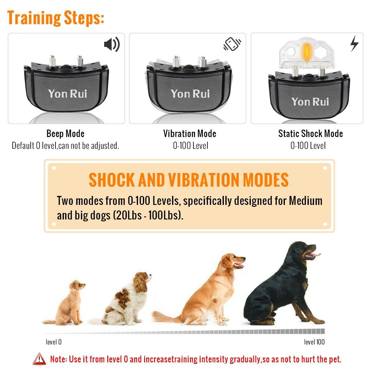 Remote Dog Training Collar Yonrui Shock Collars For Dogs