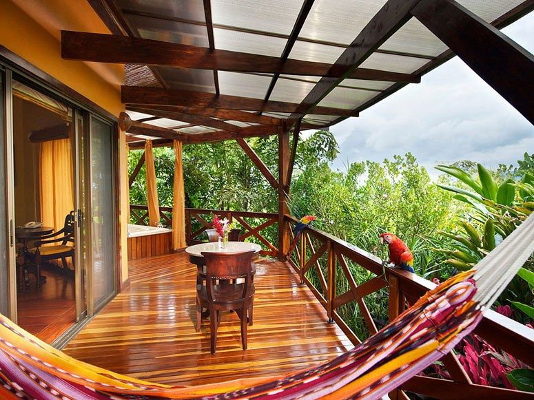 Reader's Rating: 95.7On a jungle-shrouded hill overlooking the Arenal Volcano, Nayara is paradise for hikers, bikers, rock climbers, and anyone with even a passing interest in fishing, rafting, or zip lining. Think of it as a very sophisticated, luxurious summer camp.