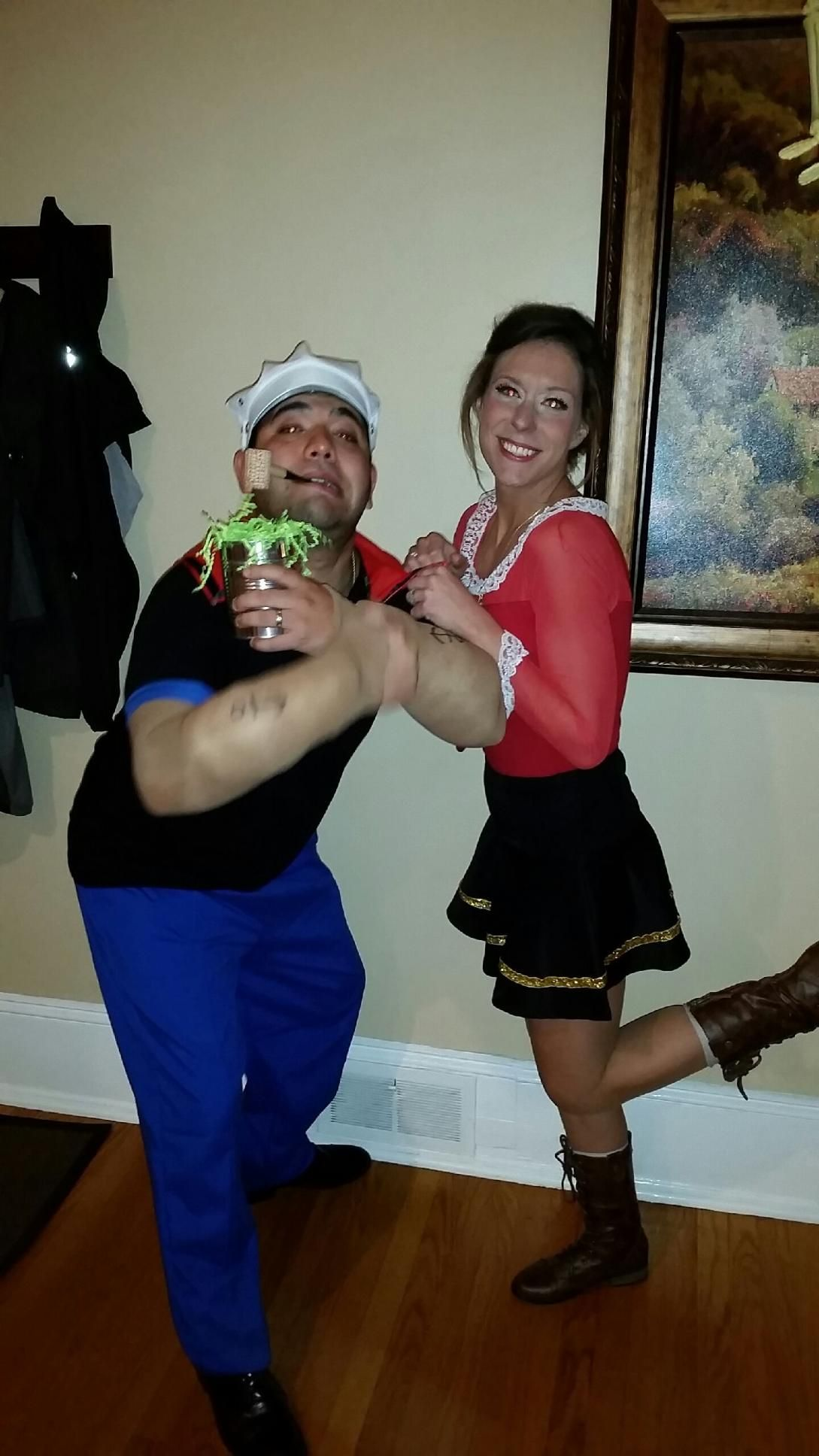 Finished product olive oyl popeye homemade halloween costume olive oyl popeye homemade halloween costume solutioingenieria Images