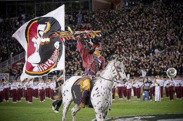 Chief Osceola And Renegade Florida State Mascot Florida State Seminoles Football Florida State Seminoles