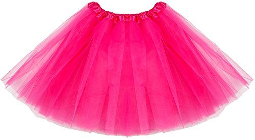 40ad965f8 Women's Tulle Tutu Skirt Classic 4 Layered Ballet Dance Stretchy Mini Skirts  Costume-Rose Red