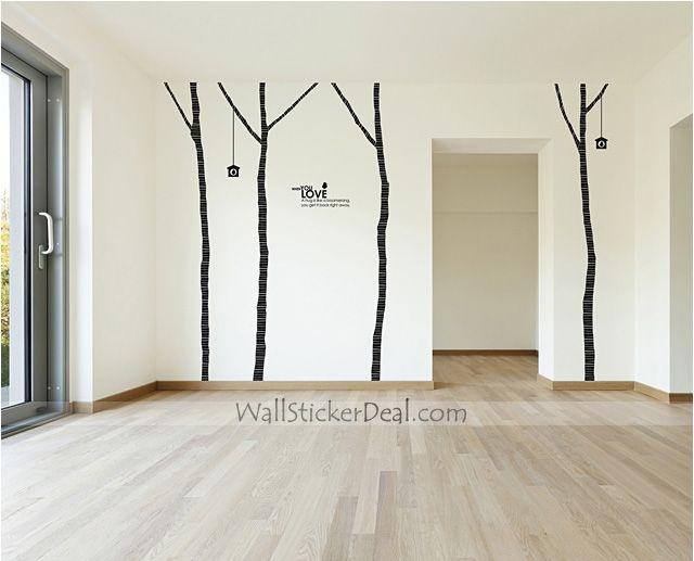 Vintage Birch Tree 4 Wall Sticker