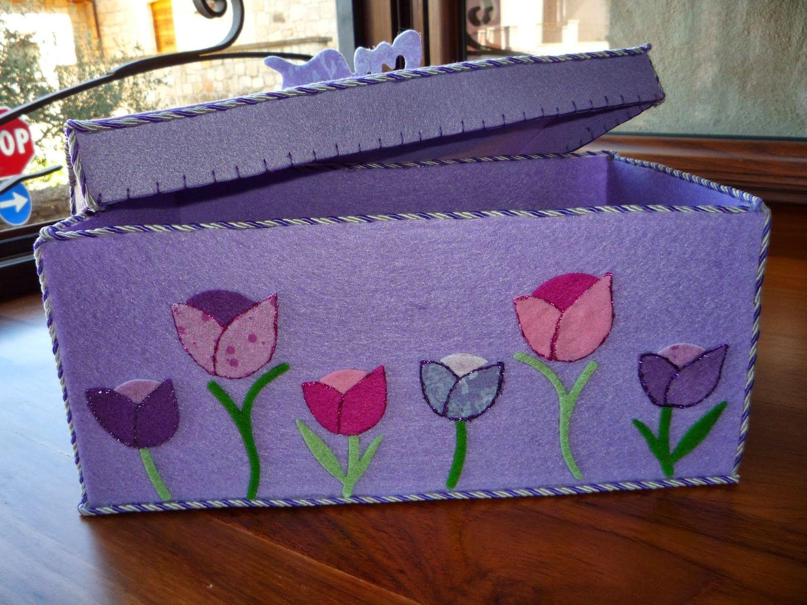 flower felt box