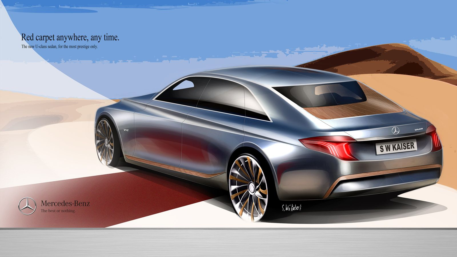 2021 mercedes benz u class concept for an uber saloon placed above the