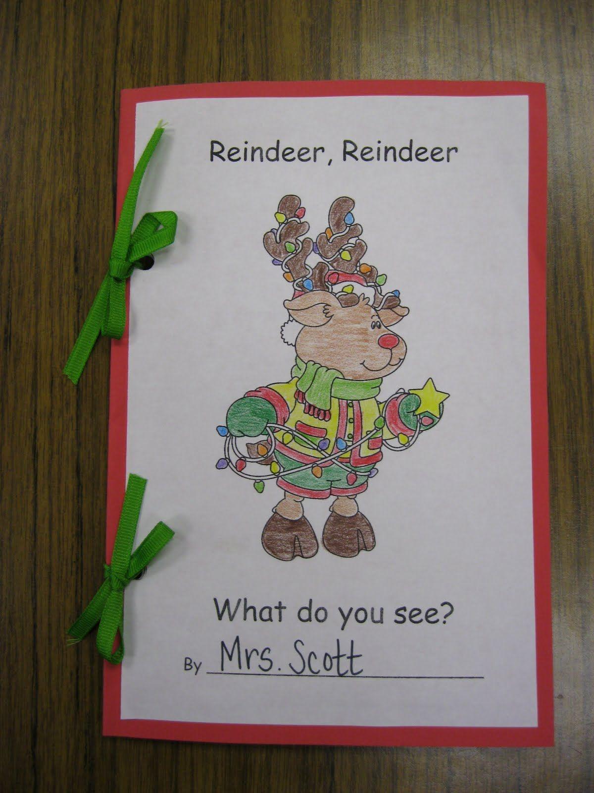 First Grade Fanatics Reindeer Freebies