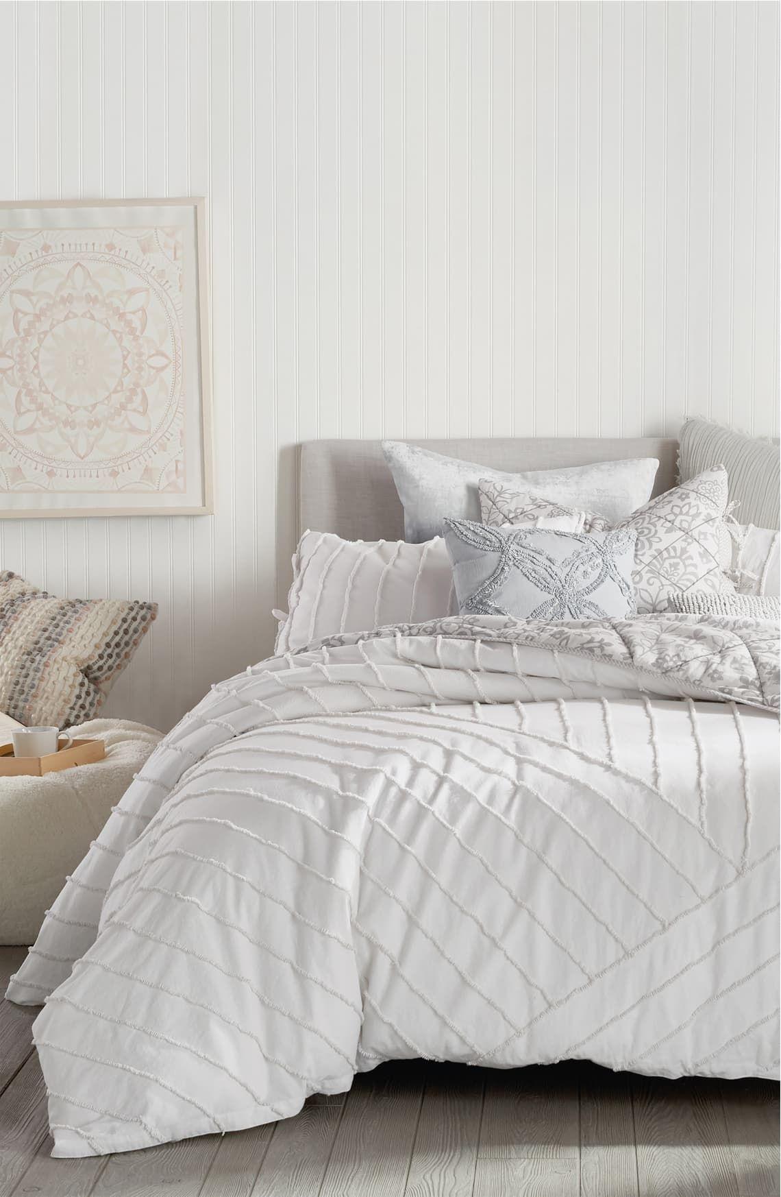 Peri Home Linear Loop Comforter Sham Set In 2020 Peri Home