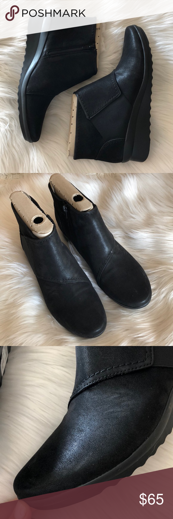 57d8300c42c Cloudsteppers By Clarks Caddell Rush Wedge Bootie Note  size 11 NARROW. New  in box. Excellent condition. Small signs of store wear