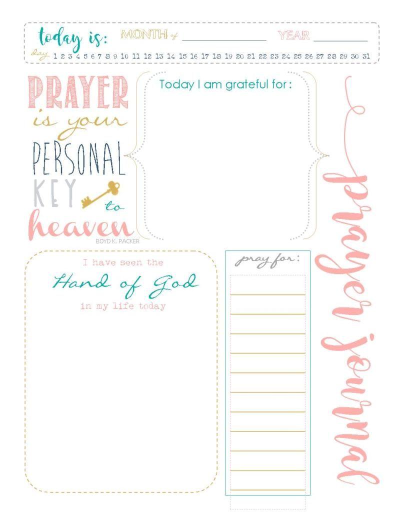 prayer journal girl color