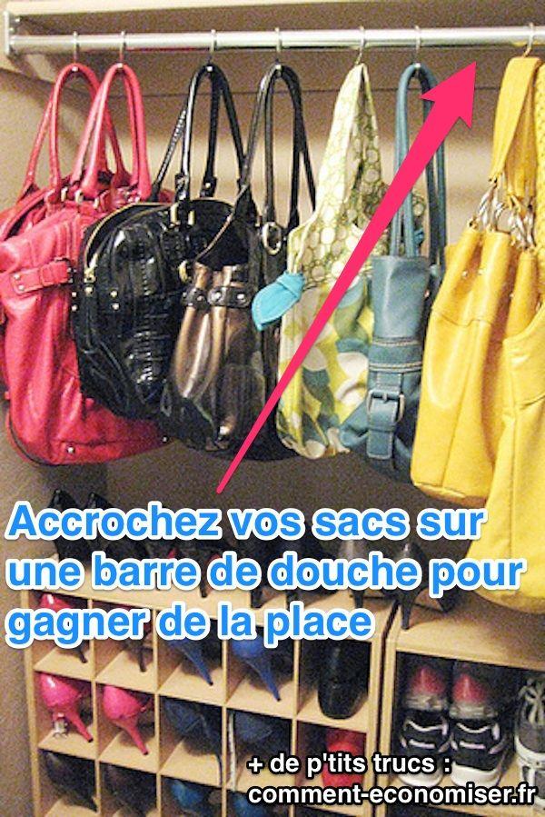 une astuce pour ranger ses sacs quand on manque de place petit placard placard et parfait