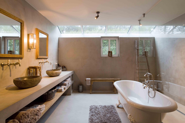 Stoopen meeûs stuc deco bathroom betonlook belgian tadelakt
