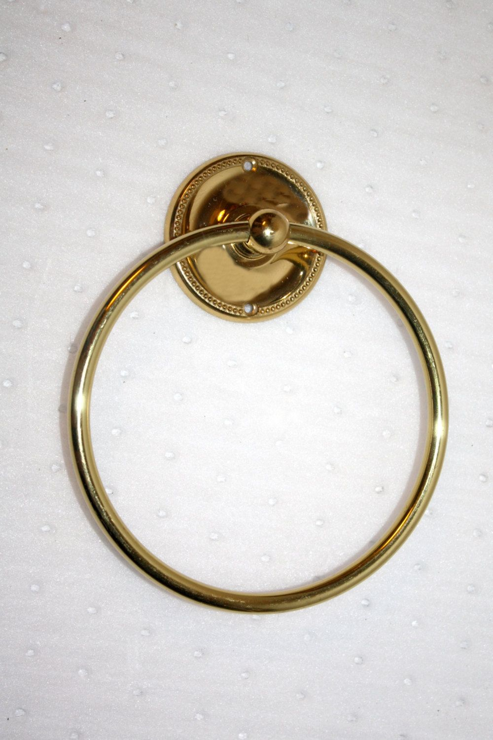 Vintage Solid Brass Hand Towel Ring by Gatco, Excellent Condition ...