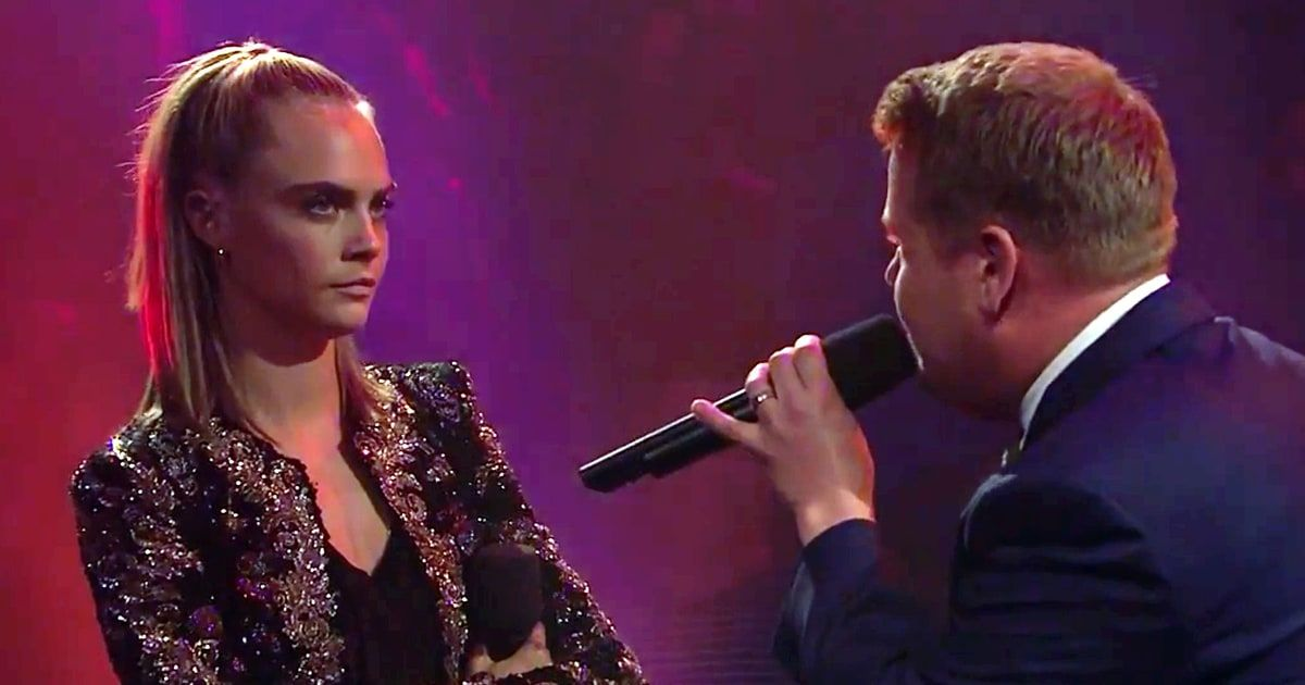 Watch Dave Franco and Cara Delevingne hilariously take down 'Late Late Show' host James Corden in an epic Drop the Mic rap battle!