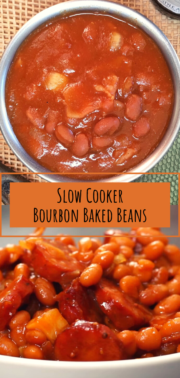 Slow Cooker Bourbon Baked Beans Healthy Food Inspiration Spicy Recipes Easy French Recipes