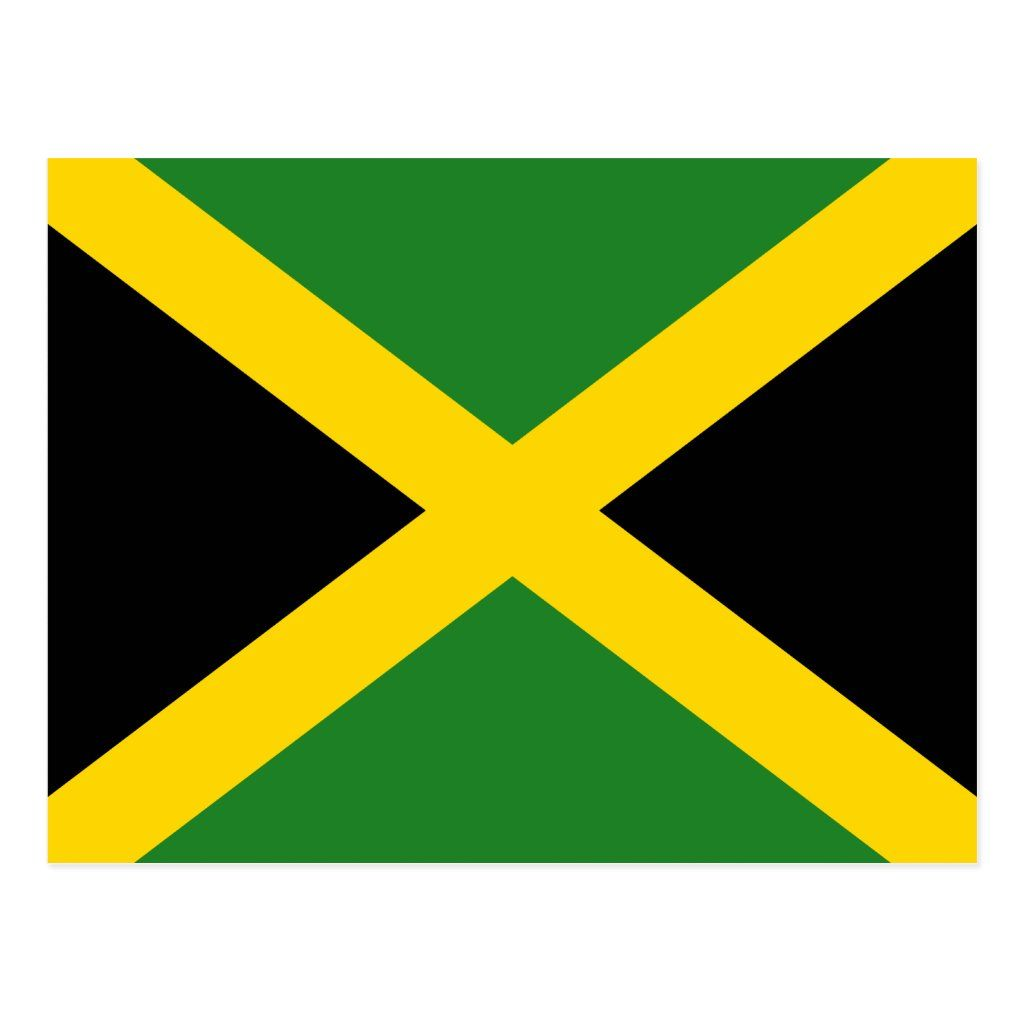 Jamaica Flag Postcard Zazzle Com In 2020 Jamaica Flag Jamaican Flag Jamaica