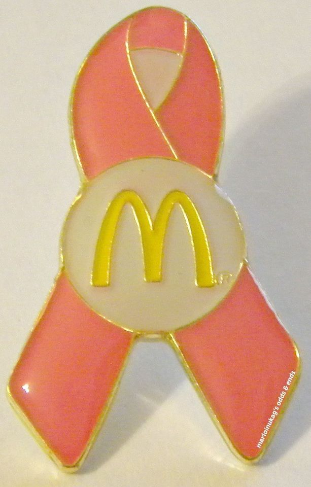 NEW McDonald's Breast Cancer Awareness Ribbon Unique Lapel